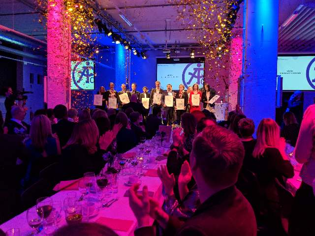Proud winner of the entrepreneur prize of the year, from Åforsk at the Innovationriksdag in Borås